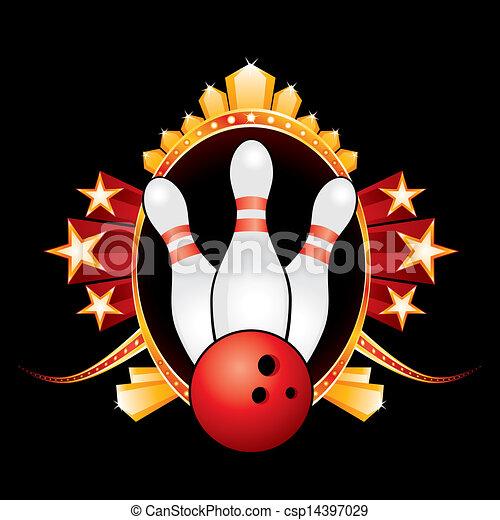 Bowling design - csp14397029