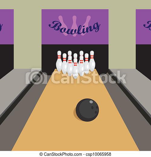 Bowling game. - csp10065958