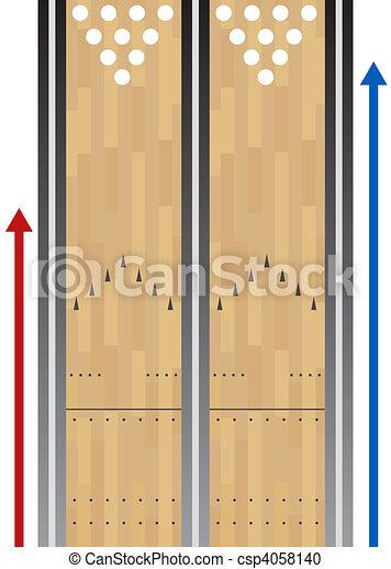 Bowling Lane Chart - csp4058140