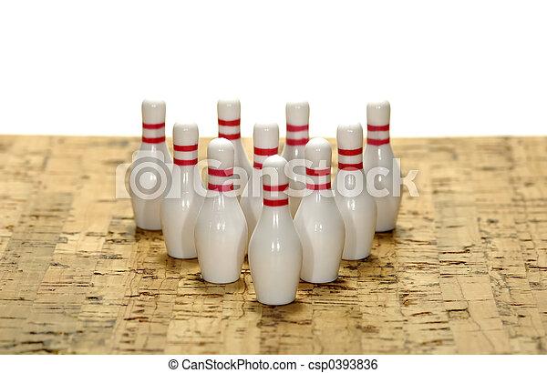 Bowling Pins - csp0393836