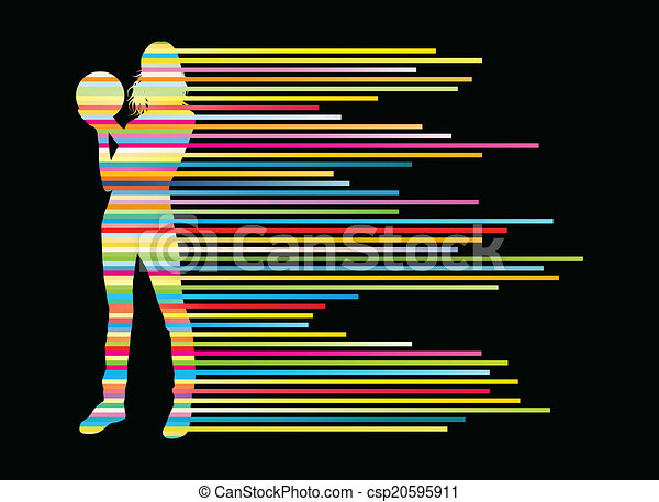 Bowling player silhouettes vector background concept - csp20595911