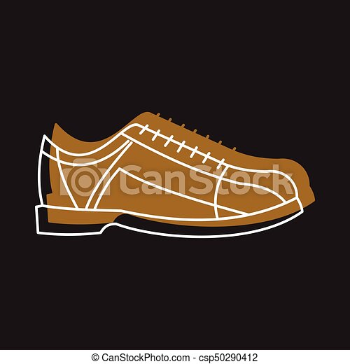 Bowling shoes icon in doodle style vector illustration for design and web  isolated