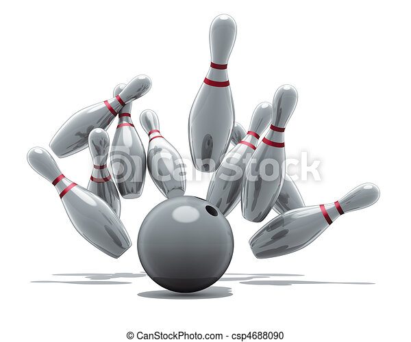 bowling strike - csp4688090