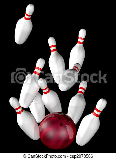 Bowling strike - csp2078566