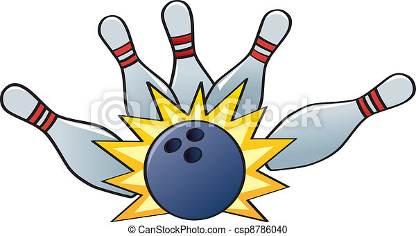 Bowling Strike - csp8786040