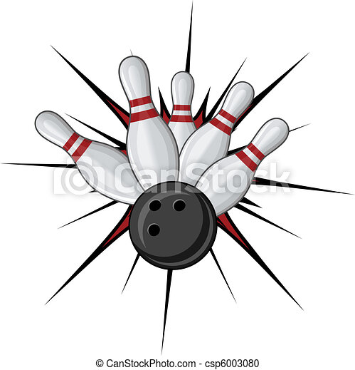 bowling symbol isolated on white for sports design vector clipart rh canstockphoto com bowling clip art borders bowling clip art borders