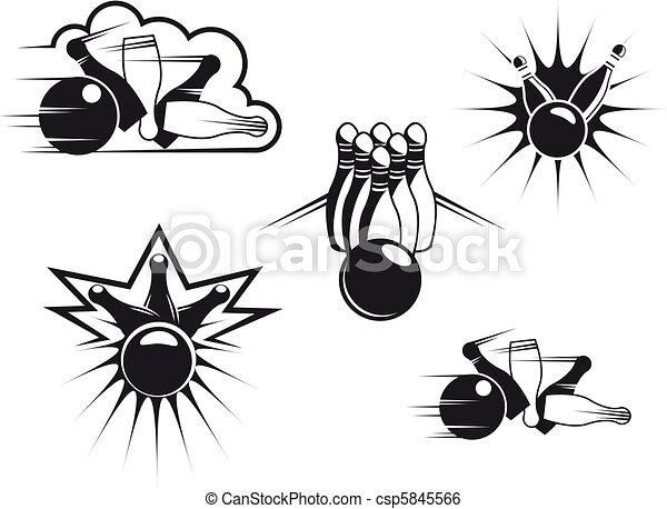 Bowling symbols - csp5845566