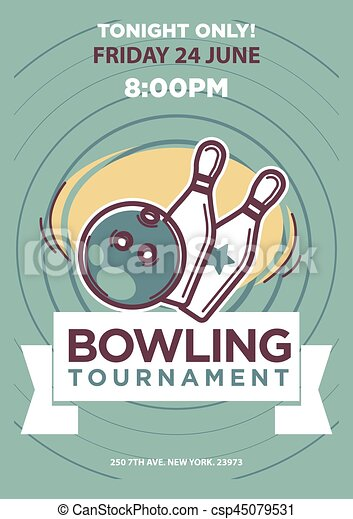 Bowling Event Flyer Template Ukransoochico - Bowling event flyer template