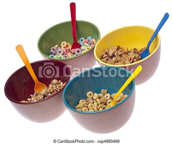 Bowls of Breakfast Cereal - csp4880499