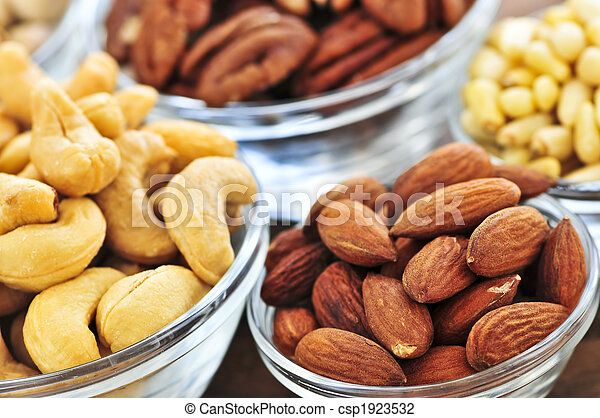 Bowls of nuts - csp1923532