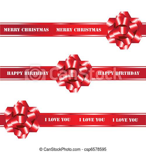 Bows and ribbons - csp6578595