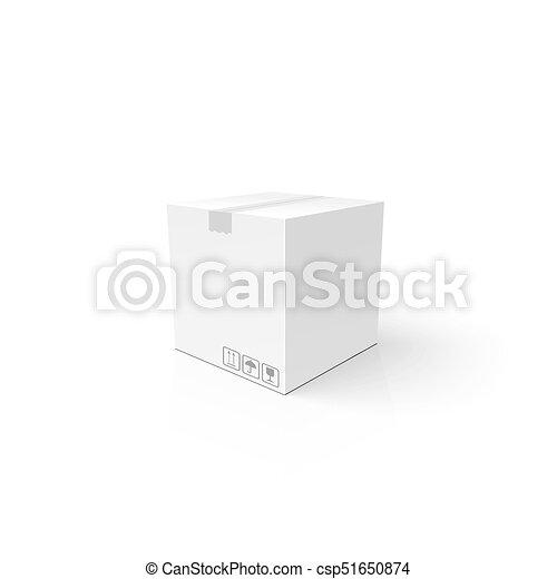 box., きれいにしなさい, package., mockup, product., 3d, テンプレート, 白, カートン, あなたの, 閉じられた - csp51650874