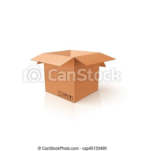 box., 開いた, package., mockup, product., テンプレート, きれいにしなさい, カートン, あなたの, 3d - csp45133490