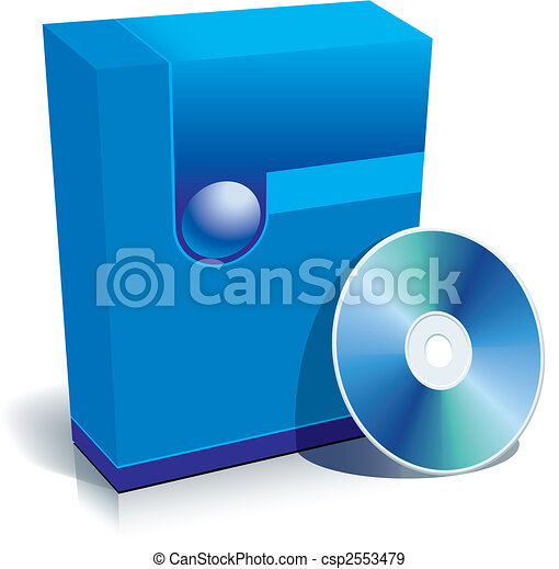 Box and CD - csp2553479