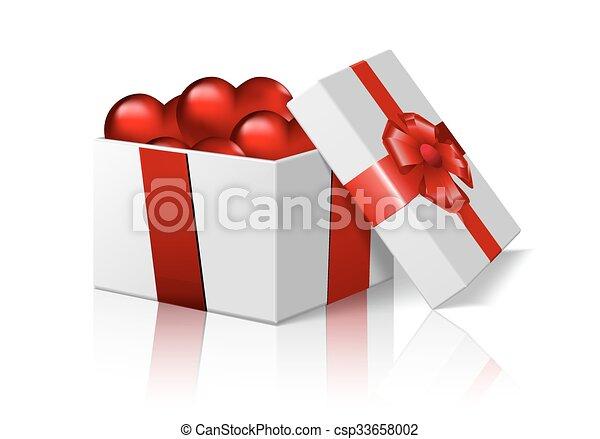 box and hearts - csp33658002