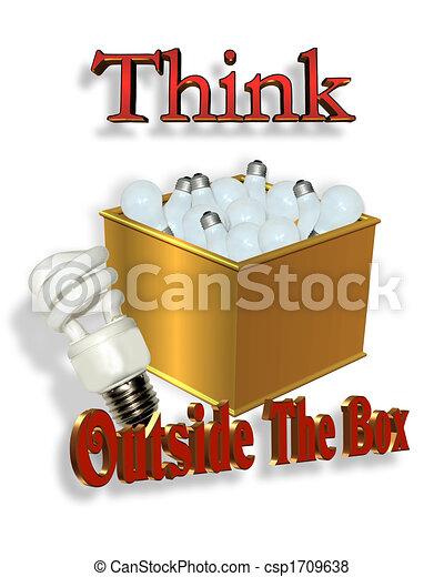 box, energie, spásonosný, mimo, přemýšlet - csp1709638