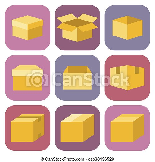 box icon in flat style - csp38436529