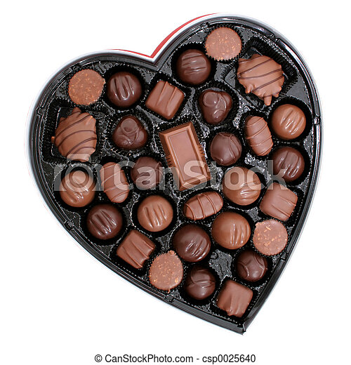 Box of Chocolates in a Heart Shape (8.2mp Image) - csp0025640