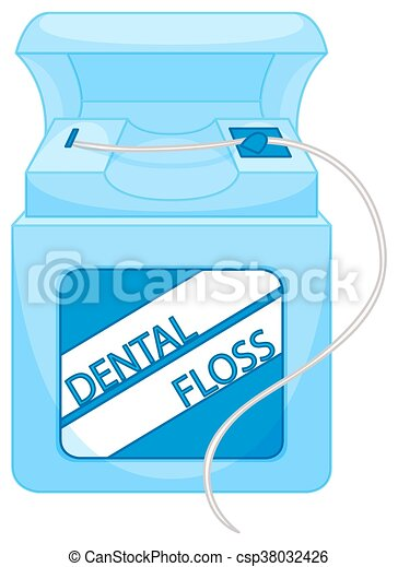 Box of dental floss - csp38032426
