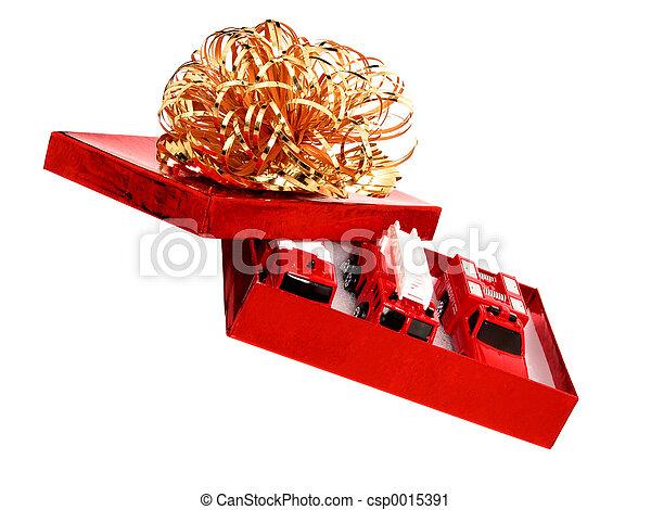 Box of Fire Trucks - csp0015391
