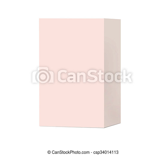 Box on white background - csp34014113