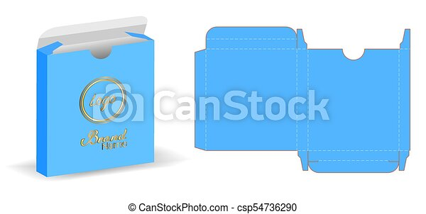 Box packaging die cut template 3d mockup eps vectors - Search Clip ...