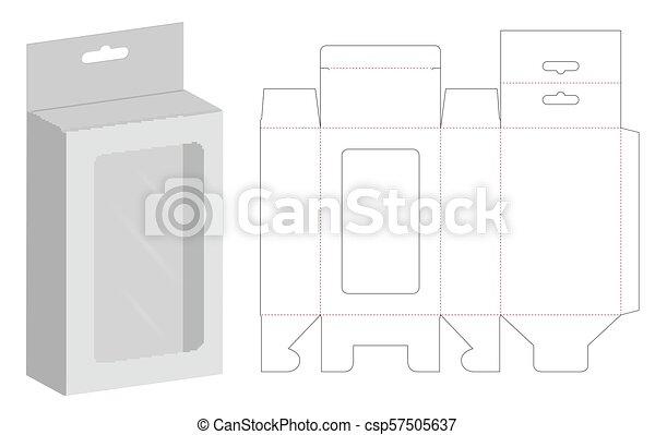 box packaging die cut template 3d mockup