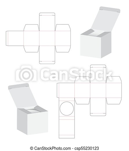 Box Packaging Die Cut Template Design 3d Mock Up Illustration