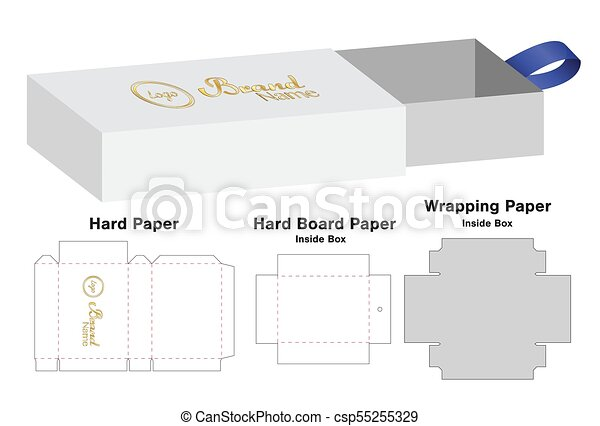 Box Packaging Die Cut Template Design 3d Mock Up Vector Illustration