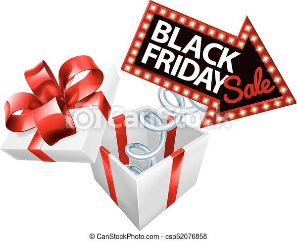 Box Spring Black Friday Sale Sign - csp52076858