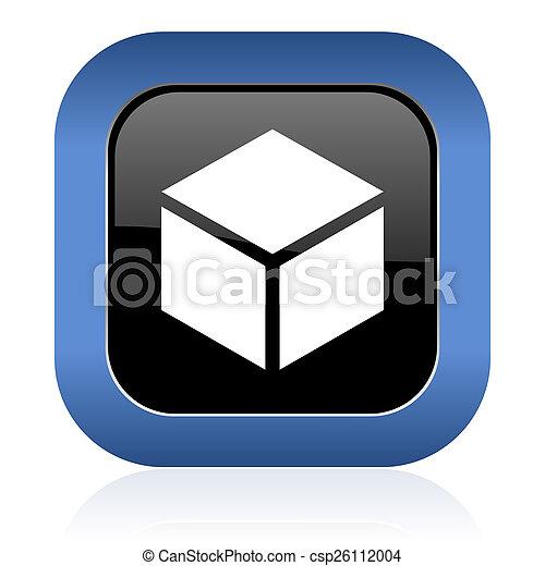 box square glossy icon - csp26112004