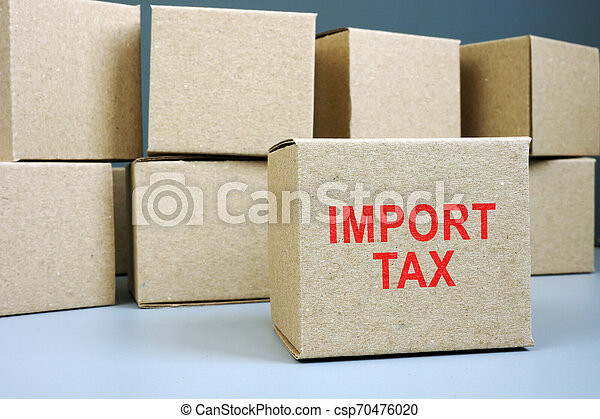 box., timbre, impôt, importation, carton, rouges - csp70476020