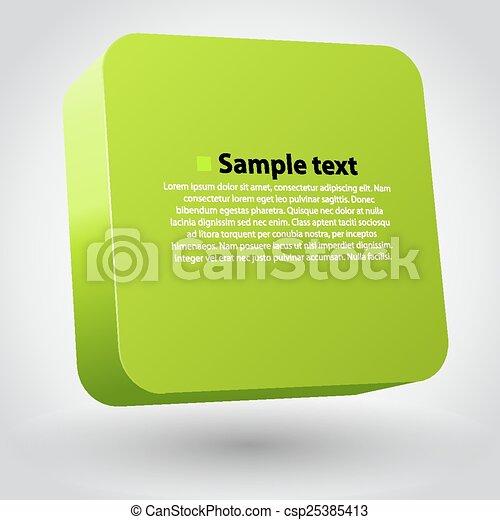 box., tridimensionnel - csp25385413