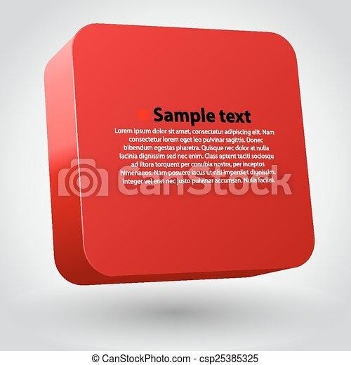 box., tridimensionnel - csp25385325