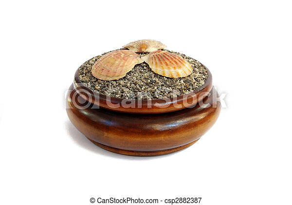 box, tropical, shell, decoration, gift, sea, isolated, jewelry, object, travel, south, symbol, old, skill, traditional, macro, wood, collection, inlay, art, souvenir, craft, culture, close, antique - csp2882387
