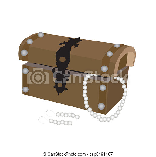 box with pearl - vector - csp6491467