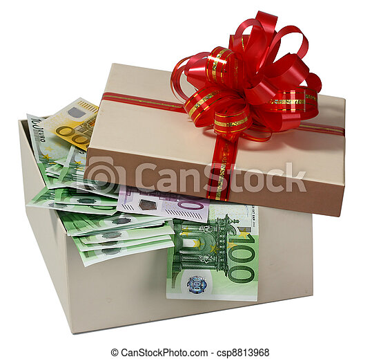boxas, gåva, pengar. - csp8813968