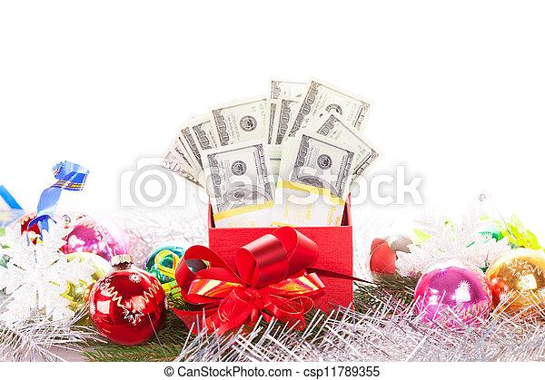 boxas, pengar, gåva - csp11789355