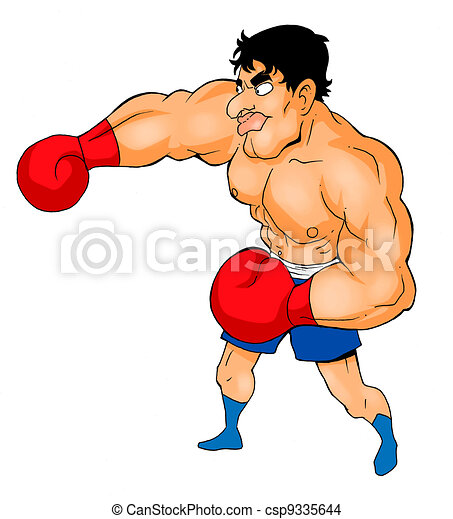 Boxer Caricature - csp9335644