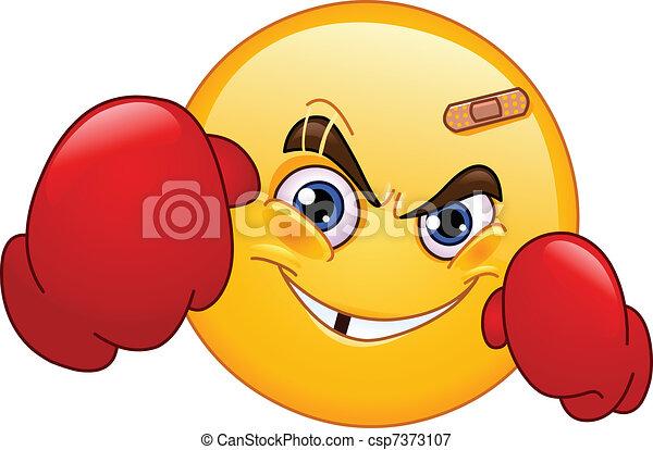 Boxer emoticon - csp7373107