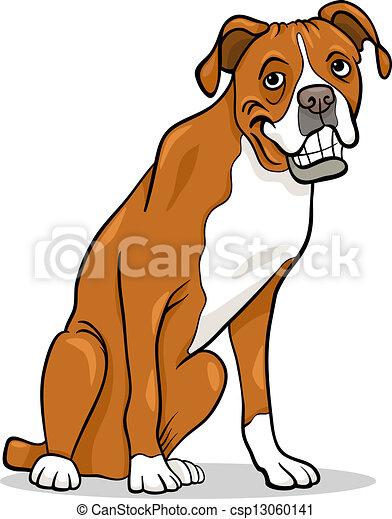 boxer purebred dog cartoon illustration cartoon eps vector rh canstockphoto com boxer dog face clipart boxer dog clipart images