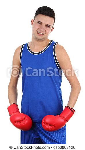 boxer smiling - csp8883126