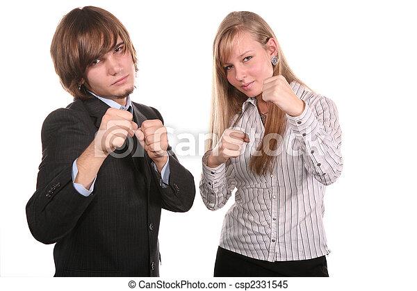 boxer young couple - csp2331545