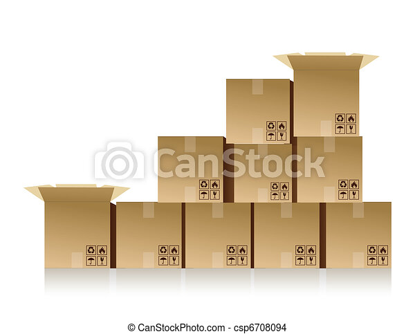 boxes stacked up - csp6708094