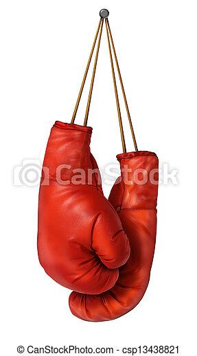 boxhandschuhe, hängender  - csp13438821