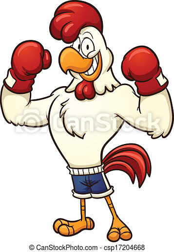 clip art of a boxing chicken vector cartoon illustration clip rh canstockphoto com boxing clipart png boxing clipart free download