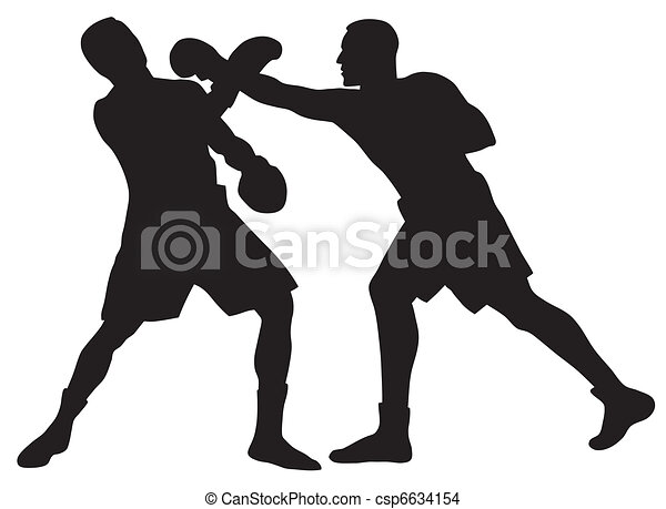 boxing abstract vector illustration of boxing men silhouettes rh canstockphoto com boxing gloves clipart boxing clipart free