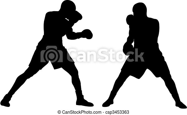 boxing abstract vector illustration of boxing men silhouettes rh canstockphoto com clipart boxing ring free clipart boxing