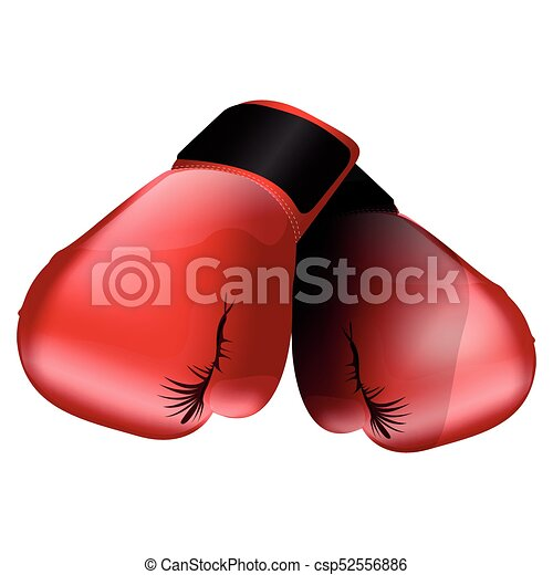 Boxing gloves illustration - csp52556886