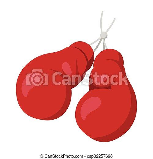 Boxing gloves on nail illustration - csp32257698